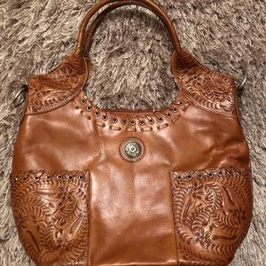 American West genuine leather purse